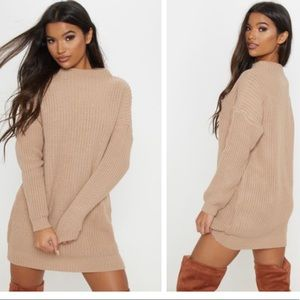 PRETTY LITTLE THING Cable Knit Sweater Dress